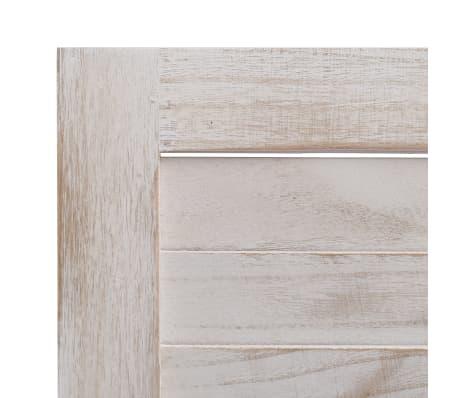 vidaXL Cloison de séparation 5 panneaux 175x165 cm Bois[6/6]