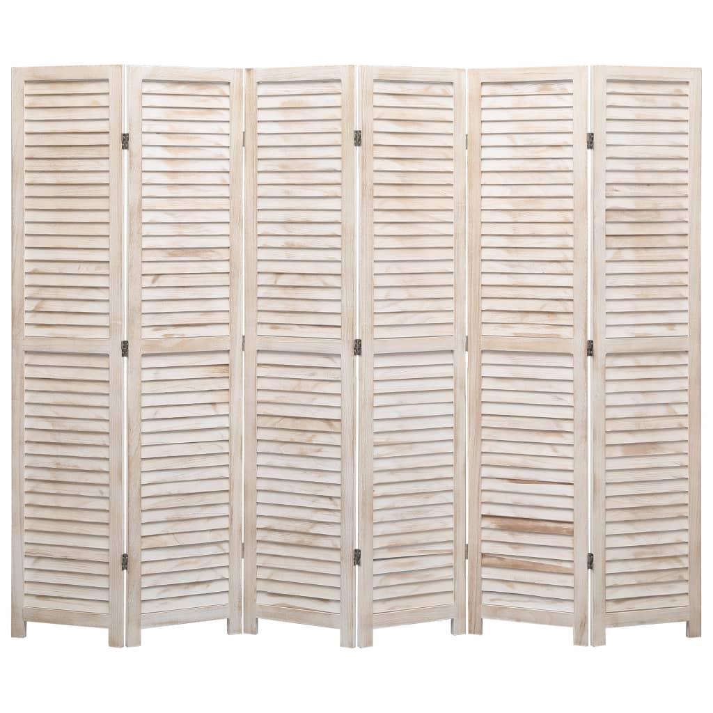 vidaXL Parawan 6-panelowy, 210 x 165 cm, drewniany
