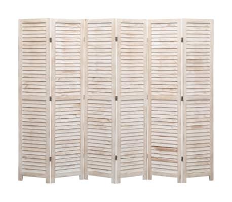 vidaXL Cloison de séparation 6 panneaux 210x165 cm Bois