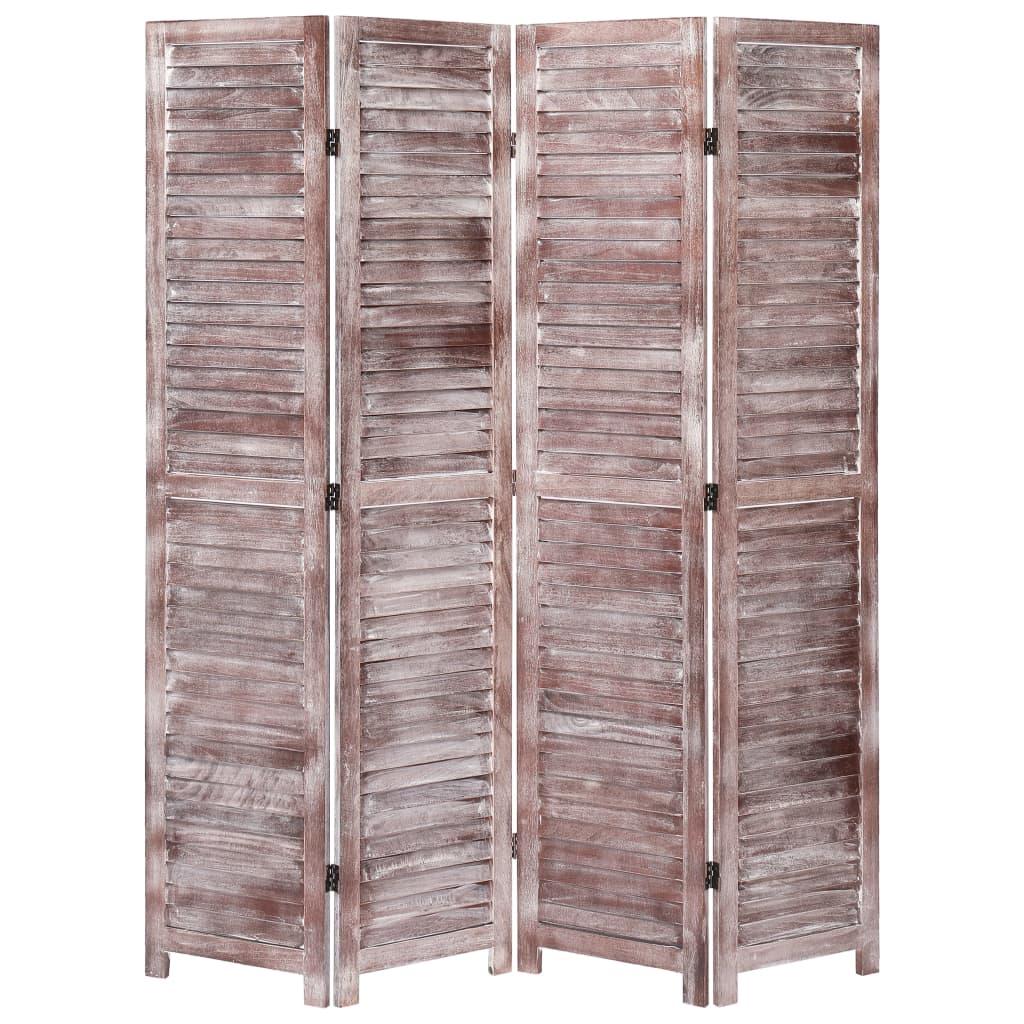 4 paneeliga sirm, pruun, 140 x 165, puit