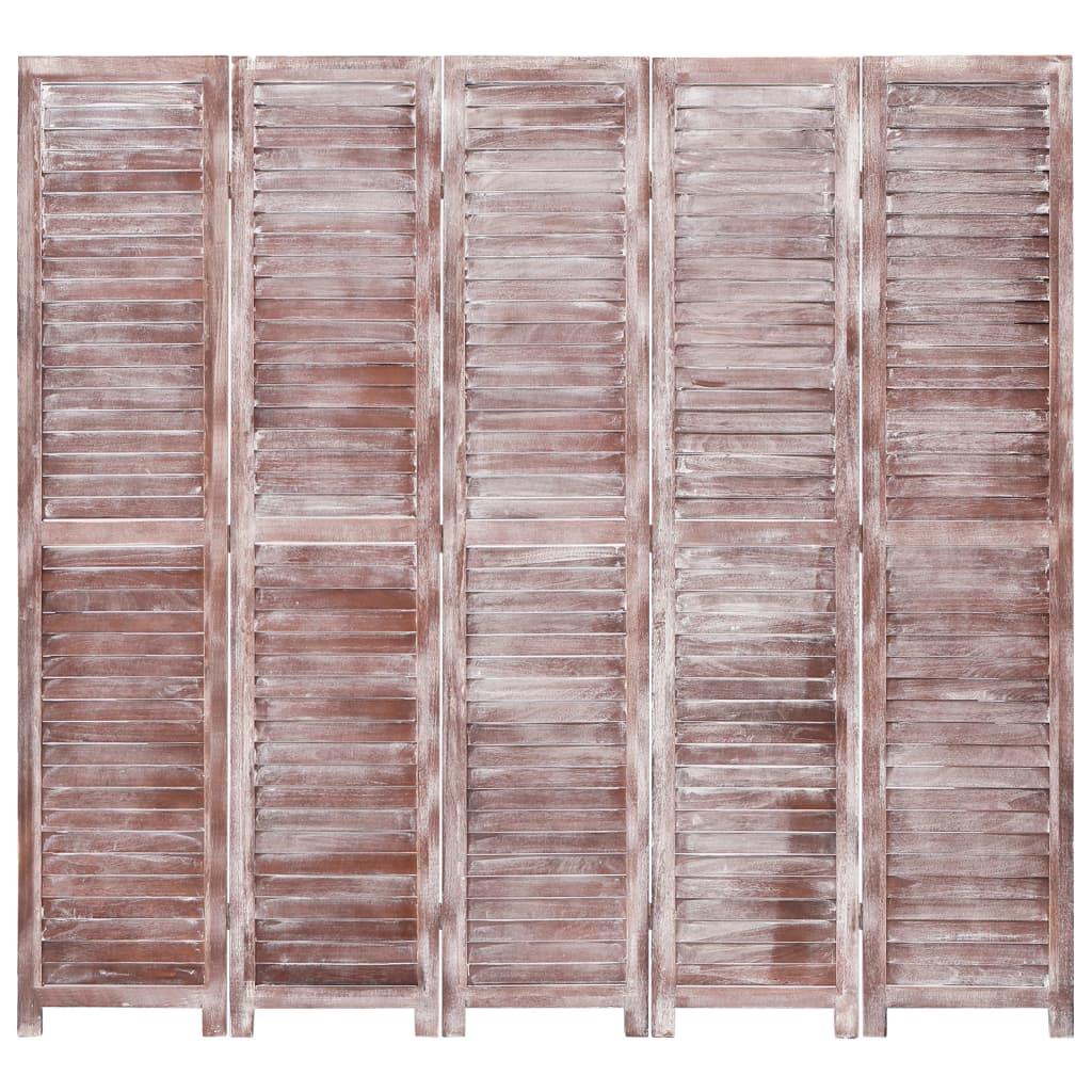 5 paneeliga sirm, pruun, 175 x 165, puit