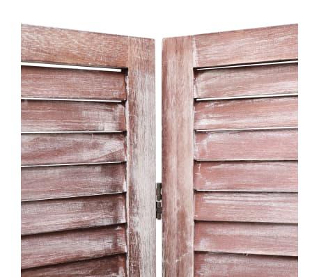 vidaXL Cloison de séparation 5 panneaux Marron 175x165 cm Bois[5/6]