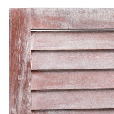 vidaXL Cloison de séparation 5 panneaux Marron 175x165 cm Bois[6/6]