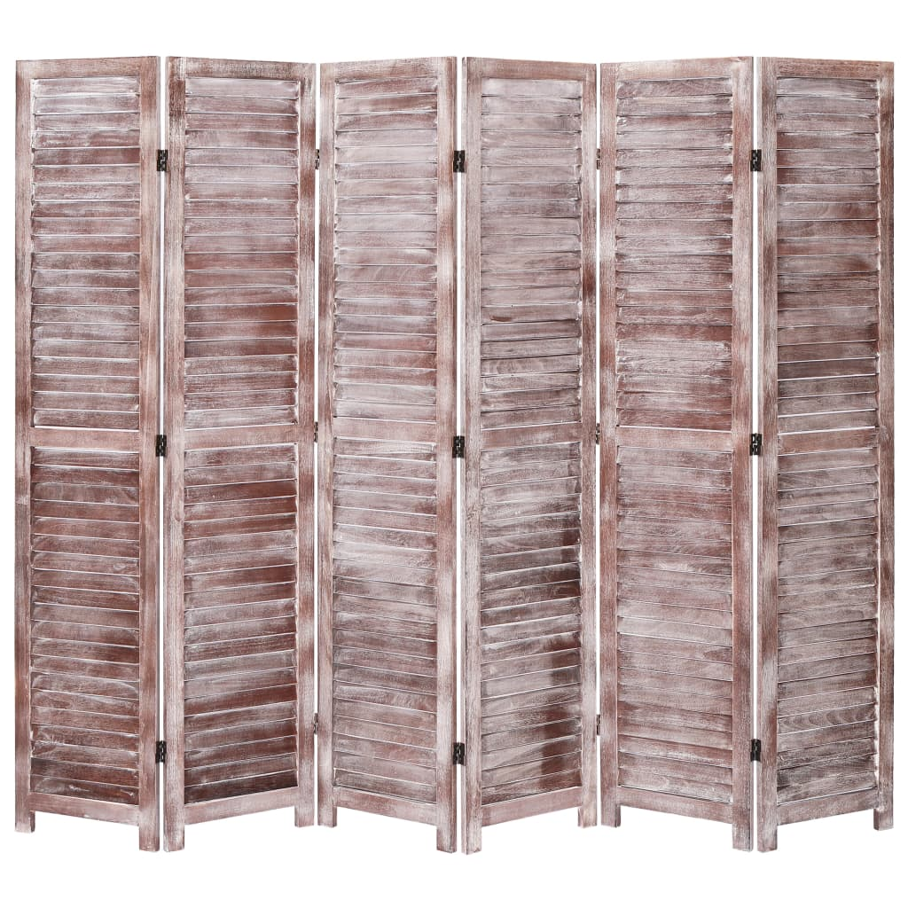 6 paneeliga sirm, pruun, 210 x 165, puit