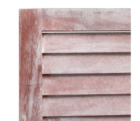 vidaXL Cloison de séparation 6 panneaux Marron 210x165 cm Bois[6/6]