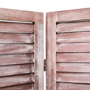 vidaXL Cloison de séparation 6 panneaux Marron 210x165 cm Bois[5/6]