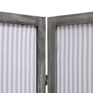 vidaXL Cloison de séparation 4 panneaux Gris 140x165 cm Tissu[5/6]