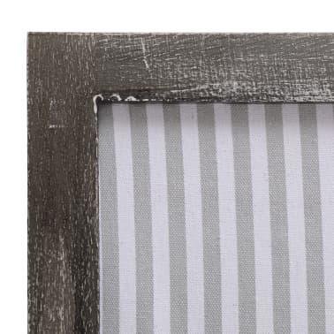 vidaXL Cloison de séparation 4 panneaux Gris 140x165 cm Tissu[6/6]