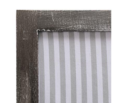 vidaXL Cloison de séparation 5 panneaux Gris 175x165 cm Tissu[6/6]