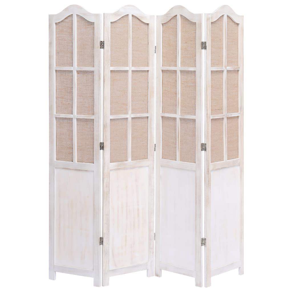 4 paneeliga sirm, valge, 140 x 165 cm, kangas