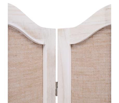 vidaXL Cloison de séparation 4 panneaux Blanc 140x165 cm Tissu[5/6]