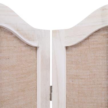 vidaXL Cloison de séparation 6 panneaux Blanc 210x165 cm Tissu[5/6]