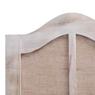 vidaXL Cloison de séparation 6 panneaux Blanc 210x165 cm Tissu[6/6]