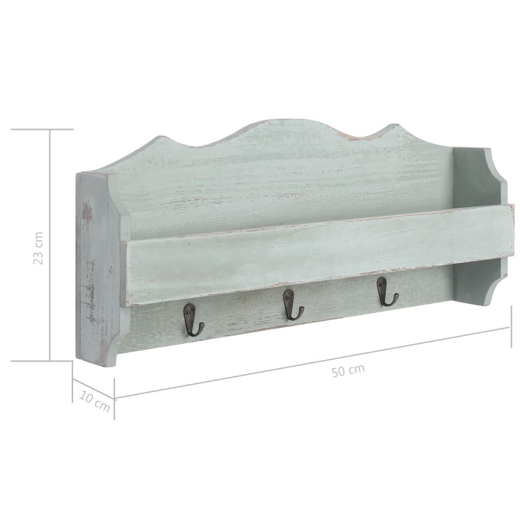vidaXL Wandkapstok 50x10x23 cm hout groen