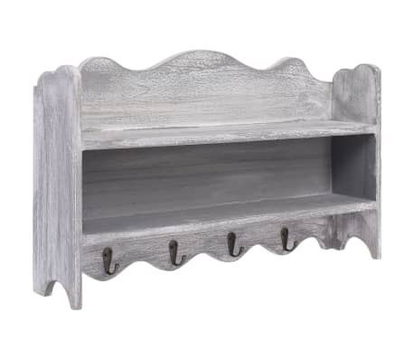 vidaXL Wandkapstok 50x10x30 cm hout grijs