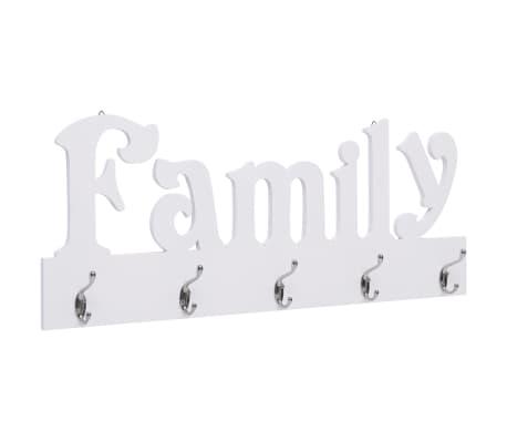 vidaXL Wandkapstok FAMILY 74x29,5 cm