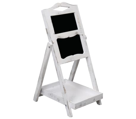 vidaXL Chalkboard Display Stand White 33x39x75 cm Wood