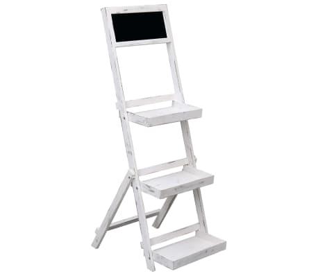 vidaXL Chalkboard Display Stand White 42x40x120 cm Wood
