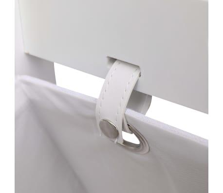 vidaXL Suport coșuri depozitare 2 niveluri alb 35x35x72 cm lemn[4/6]