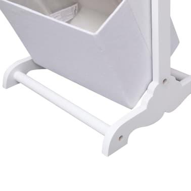 vidaXL Suport coșuri depozitare 2 niveluri alb 35x35x72 cm lemn[5/6]