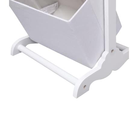 vidaXL Suport coșuri depozitare 3 niveluri alb 35x35x102 cm lemn[5/6]