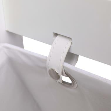 vidaXL Contenitore a 3 Livelli Bianco 35x35x102 cm in Legno[4/6]