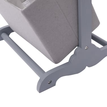 vidaXL Suport coș depozitare 4 niveluri gri închis 35x35x125 cm lemn[5/6]