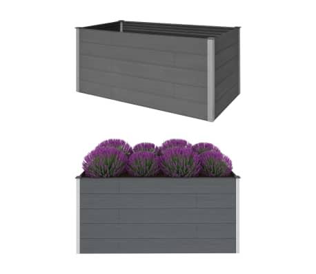 vidaXL Garden Raised Bed Grey 200x100x91 cm WPC