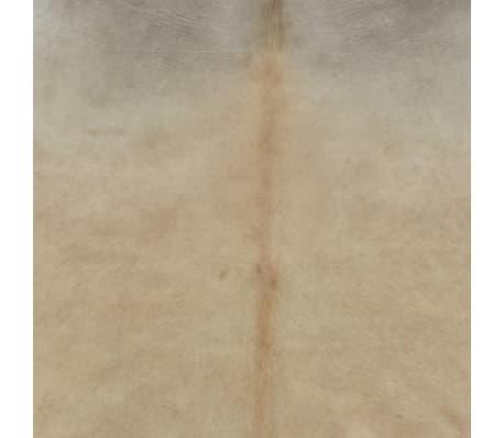 vidaXL Real Cow Hide Rug 150x170 cm Beige[3/8]