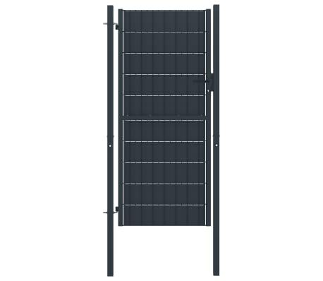 vidaXL Fence Gate Steel 100x124 cm Anthracite