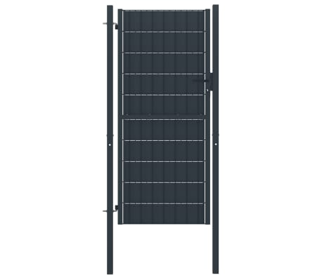 vidaXL Fence Gate Steel 100x204 cm Anthracite