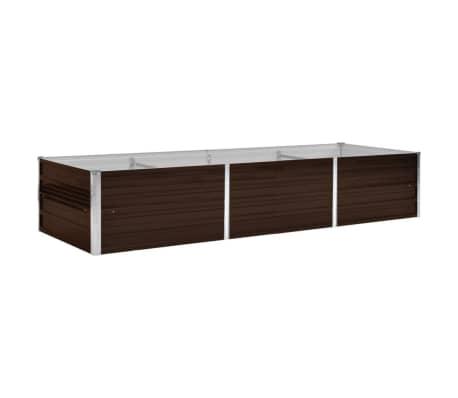 45714 vidaXL Garden Raised Bed Brown 240x80x45 cm Galvanised Steel