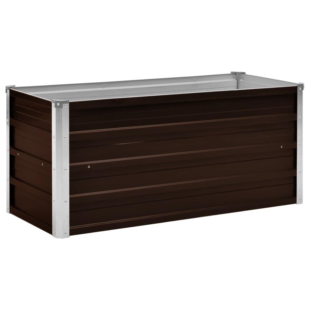 Zahradní vyvýšený záhon hnědý 100 x 40 x 45 cm pozinkovaná ocel