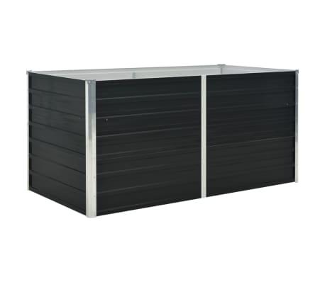 vidaXL Strat înălțat de grădină antracit 160x80x77 cm oțel galvanizat