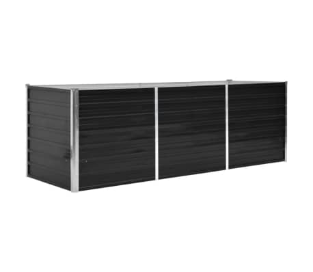 vidaXL haveplantekasse 240 x 80 x 77 cm galvaniseret stål antracitgrå[1/7]