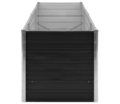 vidaXL haveplantekasse 240 x 80 x 77 cm galvaniseret stål antracitgrå[3/7]