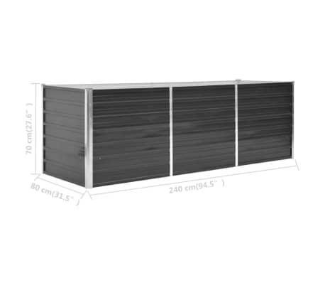 vidaXL haveplantekasse 240 x 80 x 77 cm galvaniseret stål antracitgrå[6/7]