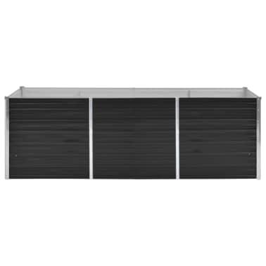 vidaXL haveplantekasse 240 x 80 x 77 cm galvaniseret stål antracitgrå[2/7]