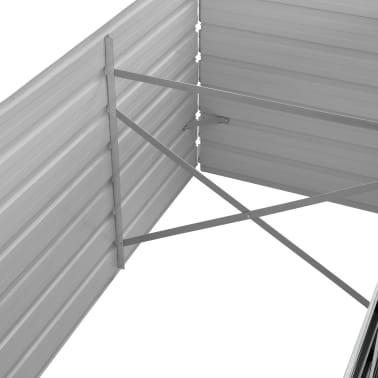 vidaXL haveplantekasse 240 x 80 x 77 cm galvaniseret stål antracitgrå[5/7]