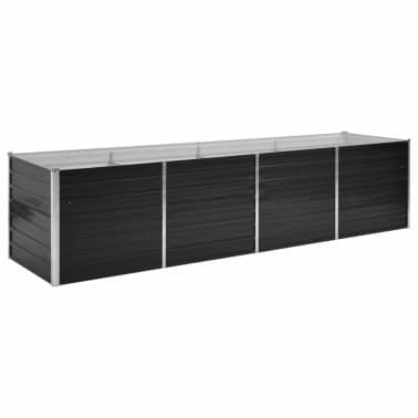 vidaXL Jardinieră de grădină, antracit, 320x80x77 cm, oțel galvanizat[1/7]
