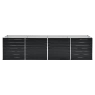 vidaXL Jardinieră de grădină, antracit, 320x80x77 cm, oțel galvanizat[2/7]