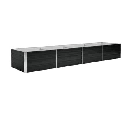 vidaXL Strat înălțat de grădină antracit 320x80x45 cm oțel galvanizat