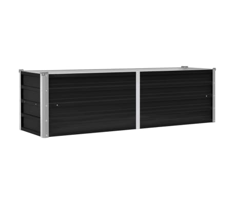 vidaXL Garden Raised Bed Anthracite 160x40x45 cm Galvanised Steel