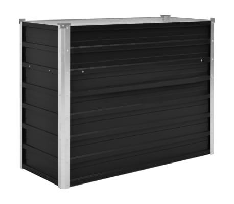 45732 vidaXL Garden Raised Bed Anthracite 100x40x77 cm Galvanised Steel