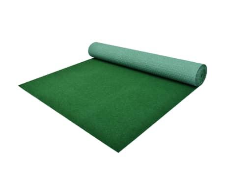 vidaXL Umetna trava s čepi PP 5x1,33 m zelena
