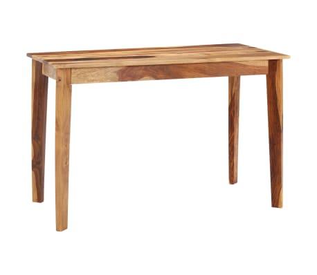 vidaXL Masă de bucătărie, 118 x 60 x 76 cm, lemn masiv de sheesham
