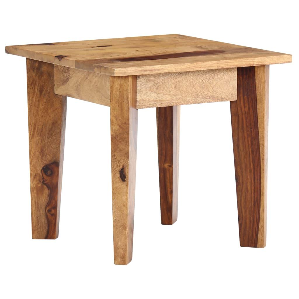 Odkládací stolek 43 x 43 x 40 cm masivní sheeshamové dřevo