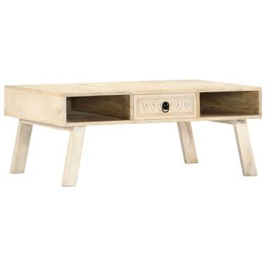 vidaXL Tavolino da Caff/è in Legno Massello Recuperato 100x60x40 cm
