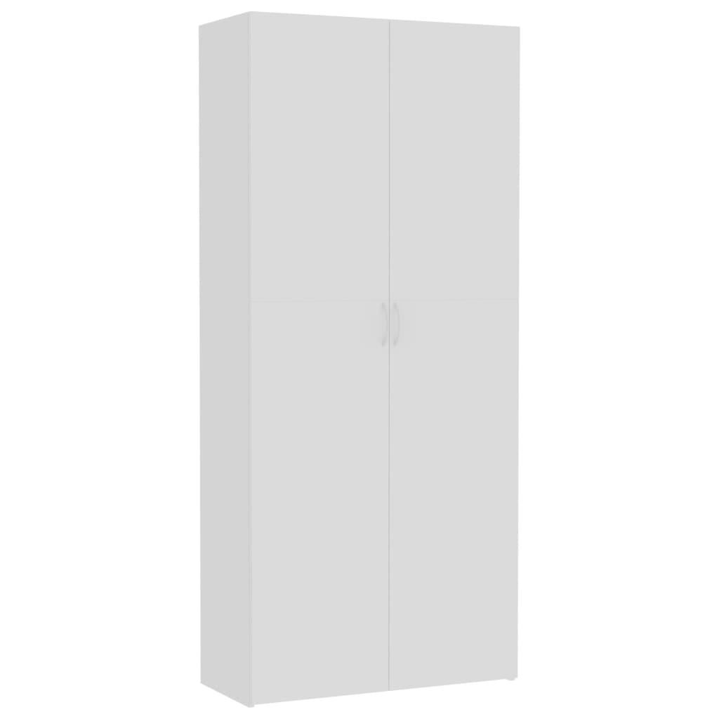 vidaXL Dulap de depozitare, alb, 80 x 35,5 x 180 cm, PAL vidaxl.ro