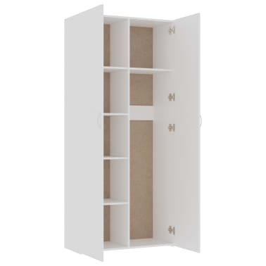 vidaXL Armoire de rangement Blanc 80 x 35,5 x 180 cm Aggloméré[5/8]